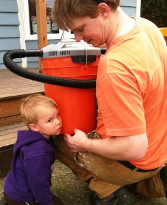 Bees in the Bucket with little boy listening